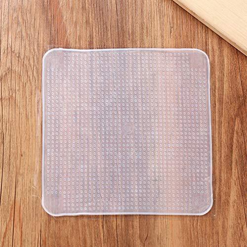 Coperchi in silicone riutilizzabili e elasticizzati, multifunzionali, in silicone, per conservare alimenti freschi, utensili da cucina trasparenti