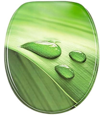 Toilettendeckel WC Deckel WC-Sitz Klobrille TROPFEN grün,