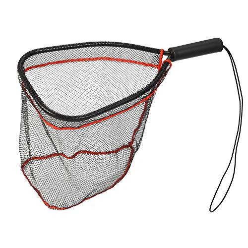 Haiyemao Dekorativer Fischnetzgürtel Aluminium-Kescher Fangen Und Lösen Netzfisch-Saver-Nylon-Netz Für Fliegenforelle-Kajak-Bootfahren Dekorativer Fischnetzgürtel für Angler -