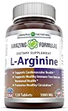 Amazing Nutrition L-arginine 1000 Mg 120 Tablets - Supports Circulation and Muscles - Supports Cardiovascular Health - Conditionally Essential Amino Acid - Pharmaceutical Grade (Usp)