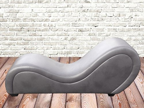 by nito Sex Sofa Erotik Couch Gamer Sessel Kamasutra Liege Love Toy (grau, Kunstleder)
