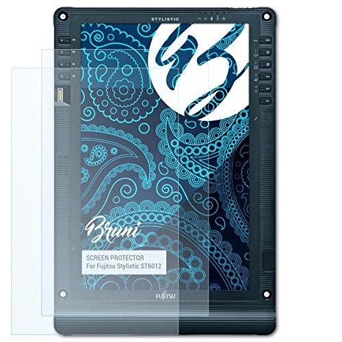 Bruni Schutzfolie für Fujitsu Stylistic ST6012 Folie, glasklare Bildschirmschutzfolie (2X)
