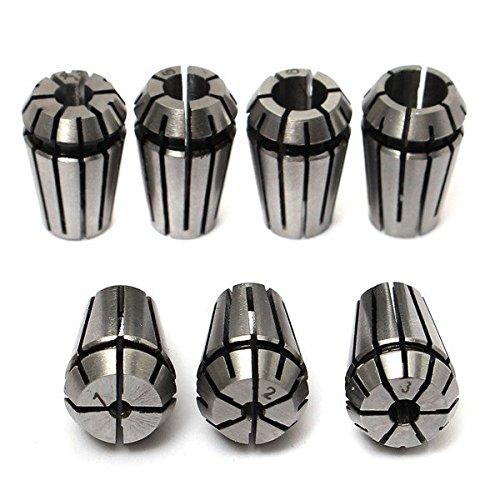 Yongse 7pcs ER11 1-7mm primavera Collet Set pinza per fresatura
