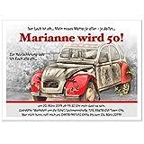 Moderne Einladungen zum Geburtstag 18 20 25 30 40 mit Spruch - cool lustig Wunschtext ändern, 20 Karten - 21 x 14,8 cm DIN A5