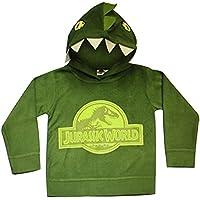 Official Licensed Boys Kids Green Jurassic World Dinosaur Fleece Hoody Hoodie