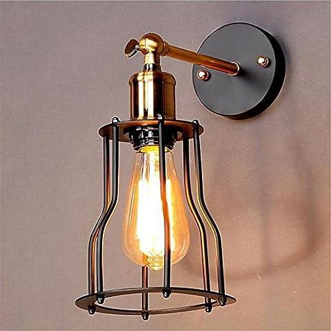H&M Retro Wand der Wand Licht Retro-Stil Industrie schwarze Miniatur-Käfig