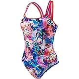 speedo Digi Xback Swimsuit Girls lava red/pink/deep lilac Größe DE 152 | US 30 2017 Schwimmanzug