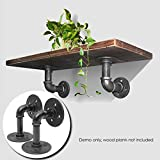 KING DO WAY 2pcs 9x13cm Industrial Iron Pipes Shelf Bracket Wall Mounted Floating Shelf Hanging Wall Hardware Steampunk Decor for Custom Shelf Plumbing Pipe Waterpipe Shelf Industrial Furniture