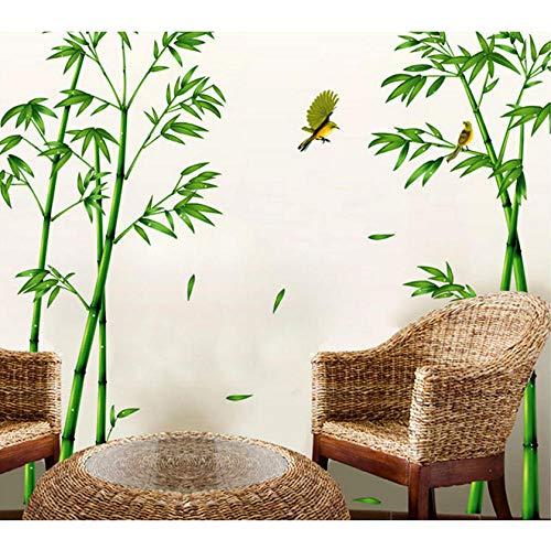 Lyiting Abnehmbare Grüne Bambus Wald Tiefen Wandaufkleber Chinesischen Stil Diy Baum Wohnkultur Aufkleber Für Wohnzimmer Dekoration Urlaub Verkauf Geschenk (Halloween Baum Dekoration Verkauf)