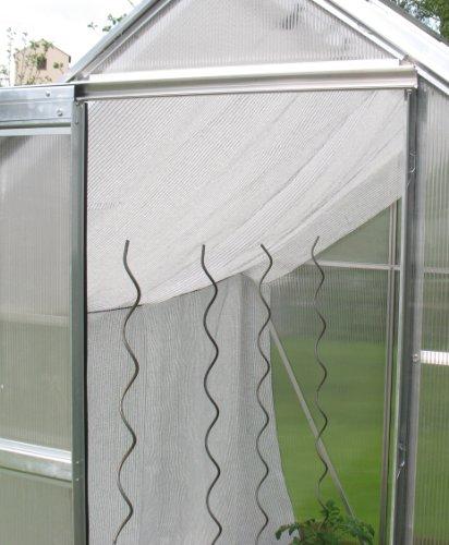 Gewächshaus Schattiernetz Hagelschutz Sonnenschutz – Breite 4,0m x Länge 8,0m, weiß, 80% Schattierwert, 1,60€/m²