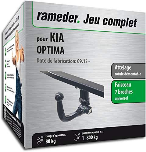 Rameder Attelage rotule démontable pour KIA Optima + Faisceau 7 Broches (153711-14969-1-FR)