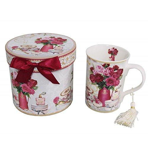 Antic Line - Coffret mug décor fleurs roses