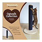 Rosewood tall and modern cat scratch post. LARGE- 80 centimetre 6