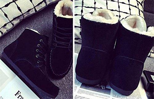 ALUK- Version coréenne des bottes de neige d'hiver plus épais Martin Bottes Chaussures de coton ( couleur : Noir , taille : 39 ) Noir