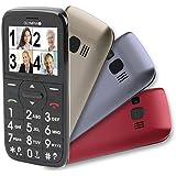 Senioren Komfort Mobiltelefon mit Großtasten und großem Farb Display Happy und 3 Wechsel Cover