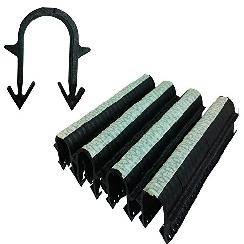 Underfloor Heating Tacker Pipe Clips 60 mm Extra Long Black UFH Staples (300) Test