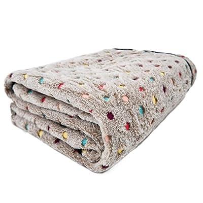 Ohana Pet Dog Blanket Fleece Fabric Soft and Cute Warm Cat Dog Blanket Washable For Sofa Car
