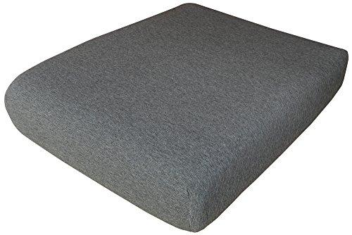 Ciuco cocciuto copriseduta divano 1, grigio, coppia 1 posto, 2 unità, 91% acrilico, 7% poliammide, 2 % elastam