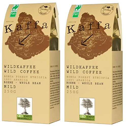 Image of Original Food Kaffa Wild-Kaffee mild ganze Bohne 2er-Pack (2x 250g) bio vegan fair Arabica MildBohx2