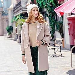 MO Autumn and Winter Women 'S Solid Color Lapel Thick Coat Coat Temperament Coat by MO
