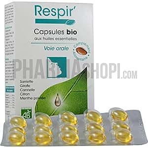 Respir capsules bio Le Comptoir Aroma - boite de 30 capsules
