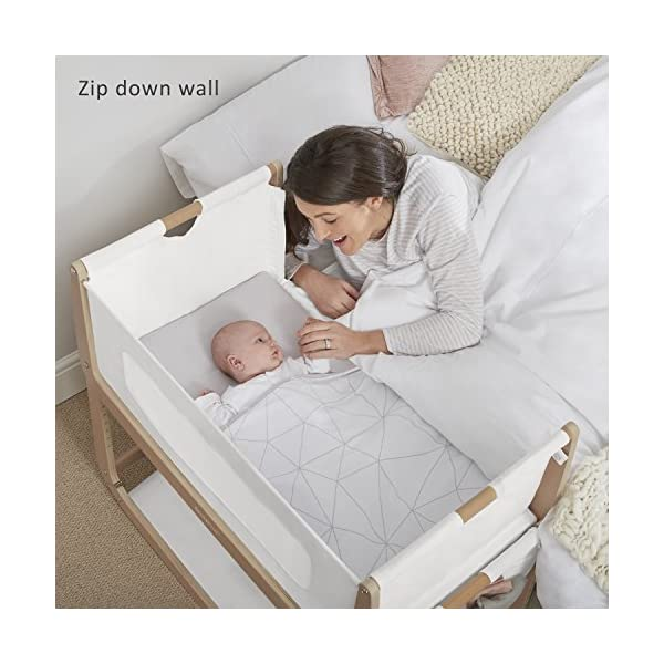 SnuzPod 3 Bedside Crib - Natural Snuz SnuzPod 3 has added functionality, a lighter bassinet and a more breathable sleeping environment. More than just a bedside crib; use as a bedside crib, stand alone crib or moses basket/bassinet. Simply attach the crib to your bed using straps provided (fits frame and divan beds) and your ready use as a bedside crib. The 9 different height settings allow you to ensure the crib is the right height for your bed (31-63cm) New! SnuzPod 3 now comes with an optional reflux function, by tilting the crib and setting an incline to reduce reflux symptoms little one can get a better nights sleep. 2