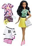 Mattel Barbie DTD97 Barbie Fashionistas Style Puppe und Moden mit gelbem Faltenrock