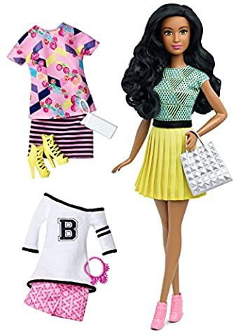 Mattel Barbie DTD97 Barbie Fashionistas Style Puppe und Moden mit