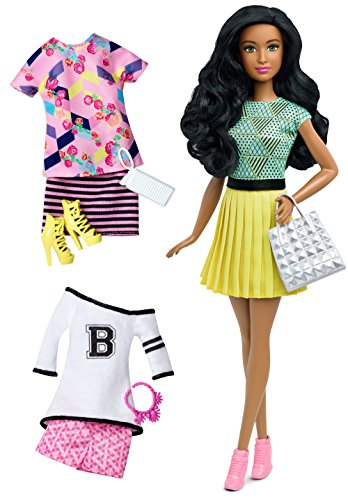Barbie DTD97 - Bambola Fashionista e Moda - Brunette
