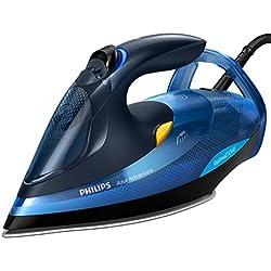 Philips gc4932/20-Fer à repasser de Vapeur 2600W, coup 220g/min, semelle SteamGlide Plus, OptimalTemp sans ajustement de température, 2600W, bleu