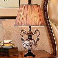 Hardworking bee European Style Table Lamp, Bedroom Bedside Table Lamp, American Desk, Creative Sofa, Coffee Table, Atmospheric Table Lamp, 33 * 55cm High Taste