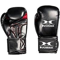 Hammer Boxhandschuhe Handschuhe X-Shock Lady - Guantes de Boxeo para Combate, Color Negro/Rojo, Talla 8 oz