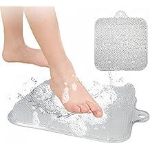 Duschfuß Scrubber Cleaner Exfoliating Feet Massager Spa für Dusche mit Saugnapf Verbessert Fußzirkulation und reduziert Fußschmerzen