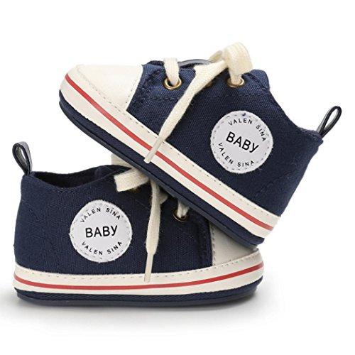 Clode® Kleinkind Mädchen Jungen Krippe Neugeborene weiche alleinige Anti Rutsch Baby Segeltuch Schuh Turnschuhe Navy