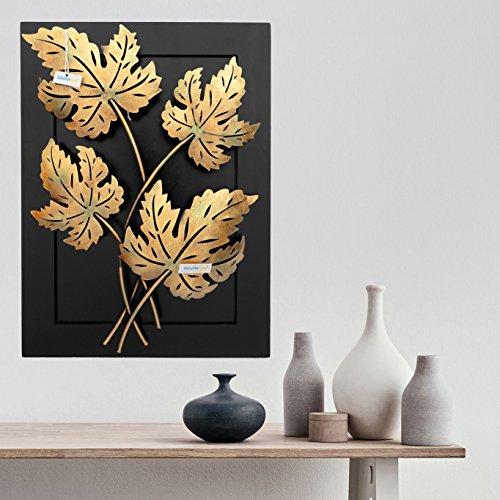 Collectible India Home Decor-Iron Handmade Tea Light Leaf Design Natural Theme Decorative Wall Hanging Showpiece Gift