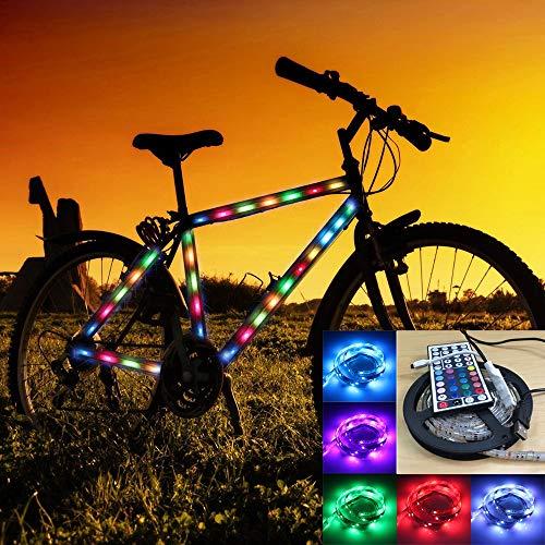 LQQZZZ LED-Streifen-Leuchten, USB wasserdichte Streifenleuchten 5050 RGB Seil Lichter Mit Controller Familie, Zimmer, Bar, Party-Dekoration 2M -