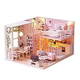 DIY Puzzles 3d luminoso tuercas Cottage Hut pequeña casa casa de muñecas madera Asamblea Manual decoración de la casa vacaciones regalo de cumpleaños