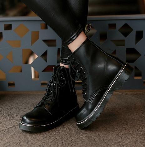 &ZHOU femmina adulti 'Boots autunno e l'inverno stivali brevi Martin stivali Cavaliere stivali A26 Black