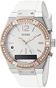 Guess Womens Analogue/Digital Quartz Watch with Silicone Strap C0002M2