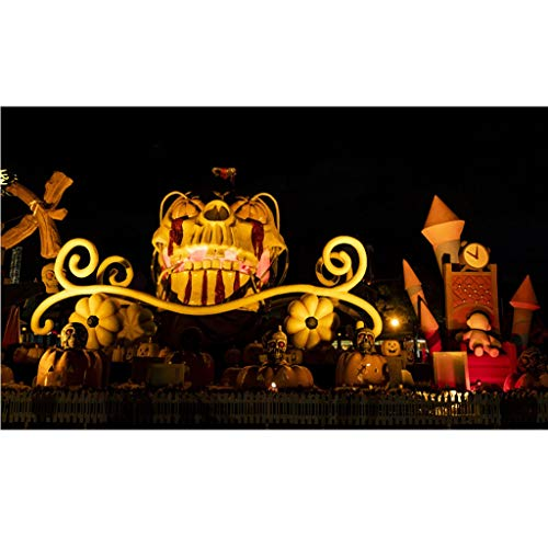 Heetey Halloween Dekoration Halloween-Hintergrund-Kürbis-Vinyl 5x3FT Laternen-Hintergrund-Fotografie-Studio Weinlese-Kürbis-Schloss-Helles Party-Hängen Für Den Außeneinsatz im Freien (Cartoon Zeichen Kostüm Für Partys)