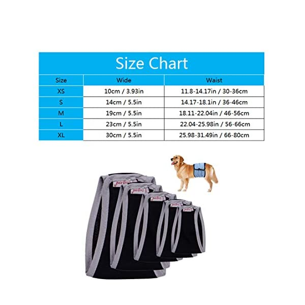 Kismaple Physiological Sanitary Pants Nursing Nappy Male Dog Diapers Belly Band Wraps