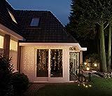 204 LED VORHANG LICHTERKETTE 17 STÄNGE WARMWEIß 3 x 1,4m EISREGEN
