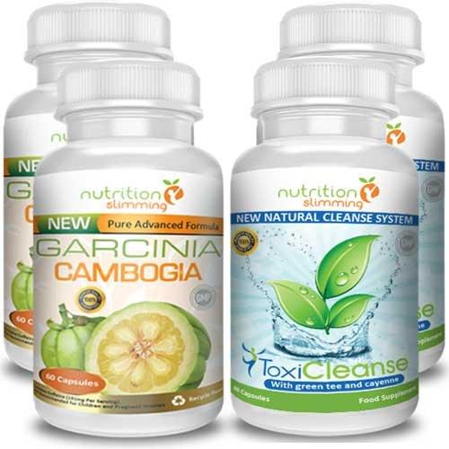 Garcinia Cambogia & Toxiclenase - Pacchetto offerta con Garcinia Cambogia più Toxicleanse (Detox) per dimagrire ancora più velocemente grazie all'unione dei 2 migliori integratori naturali. Consigliato dal Dottor Oz