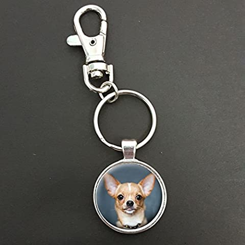 Chihuahua Dog Pendant On A Spring Hook Keyring Bag Tag Ideal Birthday Gift N370