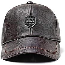 LiféUP Hombre Unisex Cuero de la PU Gorra de Beisbol, Sombrero de Sol , Deportes 9ce2dfe055b