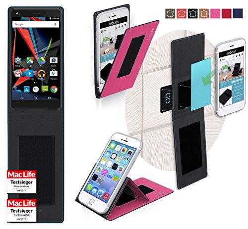 reboon Hülle für Archos Diamond 2 Note Tasche Cover Case Bumper   Pink   Testsieger