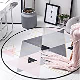 Bath Time Flagship Store LUYIASI- Teppich Geometrische Teppiche Wohnzimmer Hängesessel Kissen Haushaltsdecken Non-Slip Mat (Farbe : Pink, größe : 150cm)