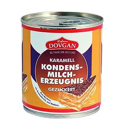 Dovgan Gezuckerte Kondensmilch Karamell, 6 prozent Fett, 6er Pack (6 x 397 g)