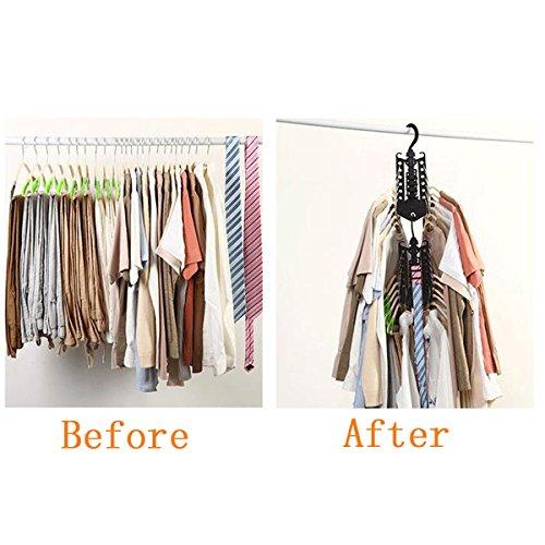 Tpocean Percha mágica plegable, multifuncional, ahorro de espacio, para ropa o pantalones, armario, organizador de ropa