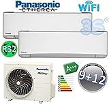 Climatiseur Inverter Bi-split A+++ 2,5+3,5 kw PANASONIC ETHEREA R32 25+35 m²